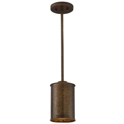Filament Design 1-Light Weathered Brass Mini-Pendant