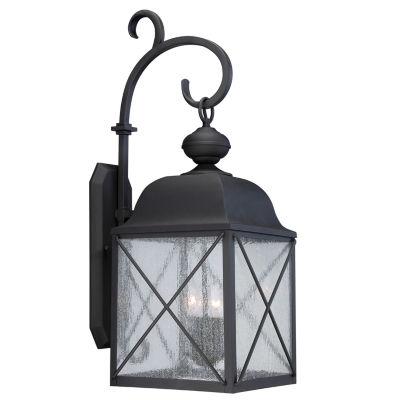 Filament Design 3-Light Textured Black Outdoor Wall Sconce