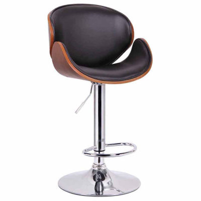 Baxton Studio Crocus Swivel Bar Stool