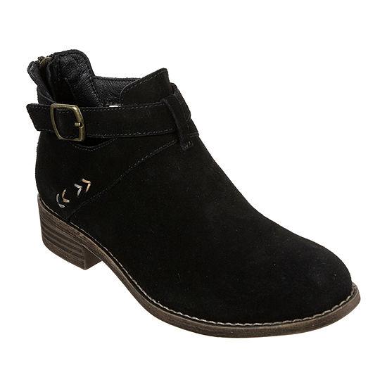 Skechers Womens Sepia Flat Heel Booties