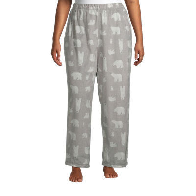 Sleep Chic Womens-Plus Fleece Pajama Pants