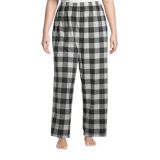 Sleep Chic Womens-Plus Fleece Pajama Pants