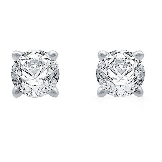 Ever Star 1/5 CT. T.W. Lab Grown White Diamond Sterling Silver Stud Earrings