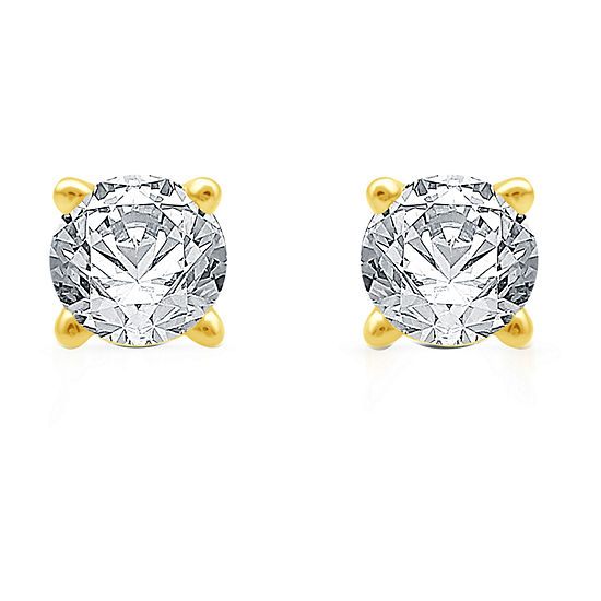 Ever Star 1/5 CT. T.W. Lab Grown White Diamond 14K Gold Over Silver Sterling Silver Stud Earrings