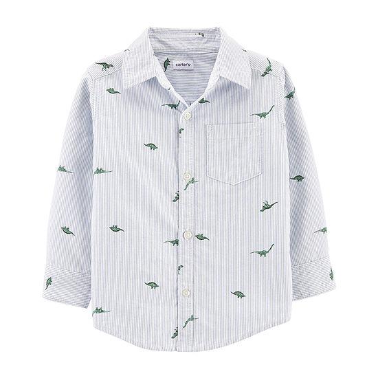 Carter's Toddler Boys Long Sleeve Button-Down Shirt