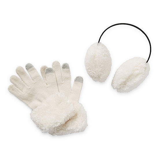 Mixit Earmuffs And Gloves Cold Weather Set