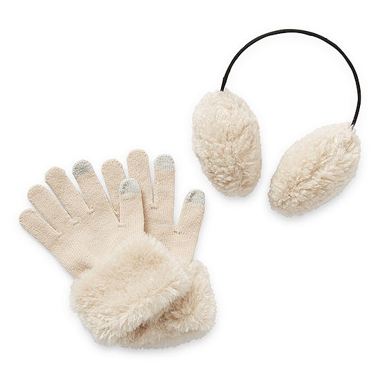 Mixit Earmuff And Gloves 2-pc. Cold Weather Set