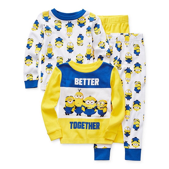 Toddler Boys 4-pc. Minons Pajama Set