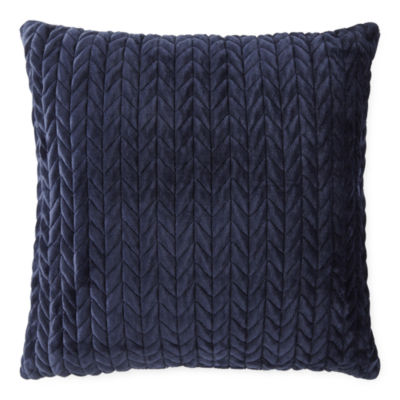 Loom + Forge Chevron Mink Square Throw Pillow
