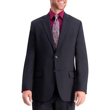 Haggar Travel Performance Heather Twill Tailored Suit Separates Reg Fit Jacket, 44 Regular, Black