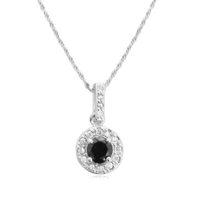 LIMITED QUANTITIES1 CT. T.W. White and Color-Enhanced Black Diamond Pendant Necklace