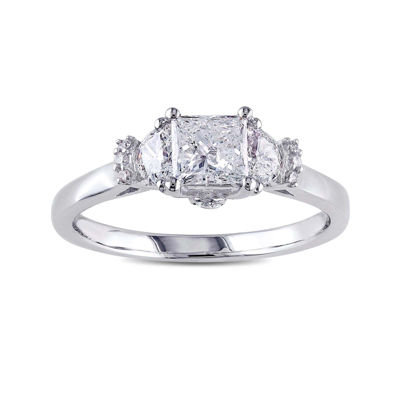1 CT. T.W. Diamond 14K White Gold 3-Stone Princess Ring
