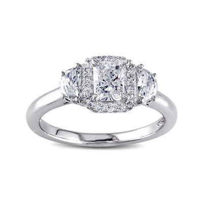 1 CT. T.W. Diamond 14K White Gold 3-Stone Ring