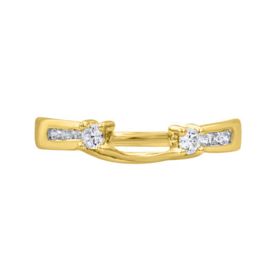 1/4 CT. T.W. Diamond 14K Yellow Gold Ring Enhancer