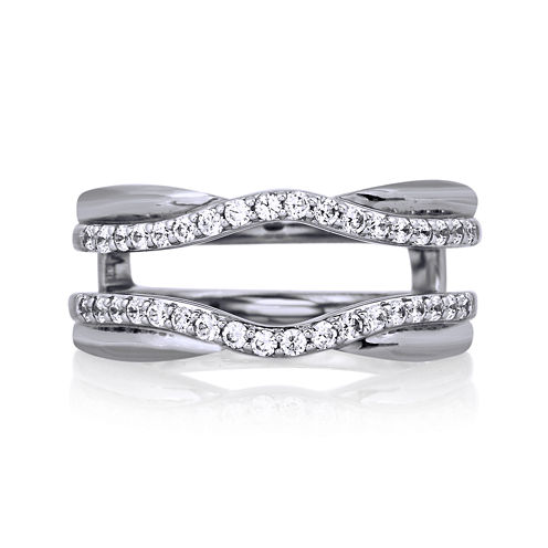 3/8 CT. T.W. Diamond 14K White Gold Ring Wrap