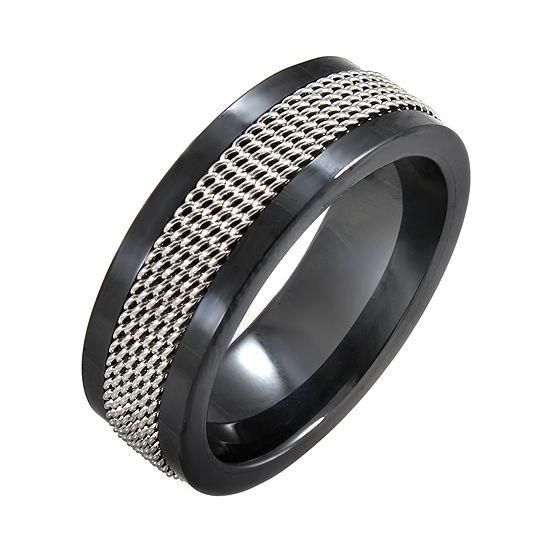 Black Ceramic Stainless Steel Mesh Band