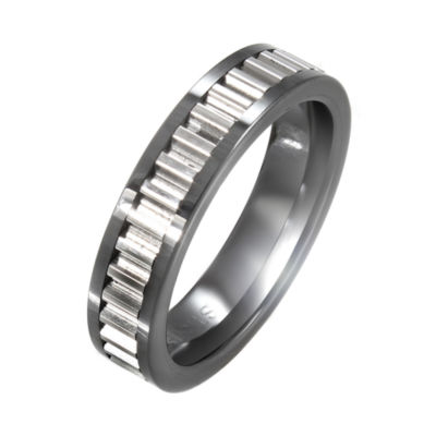 Stainless Steel Textured Inlay Band