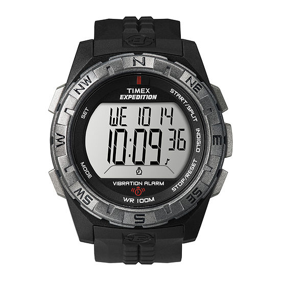 Timex Expedition Mens Black Resin Strap Vibration Alarm Watch T498519j