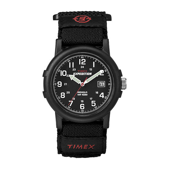 Timex® Expedition® Camper Mens Black Nylon Fast Strap Watch T400119J