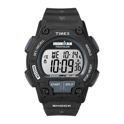 Timex® Ironman Endure Mens Black Resin Strap 30-Lap Watch T5K1969J