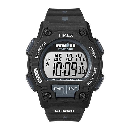 Timex® Ironman Endure Mens Black Resin Strap 30-Lap Watch T5K1969J