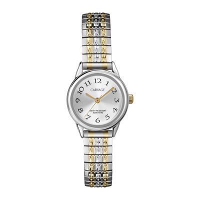 Carriage by Timex® Womens Two-Tone Stainless Steel Expansion Bracelet Watch C3C6059J