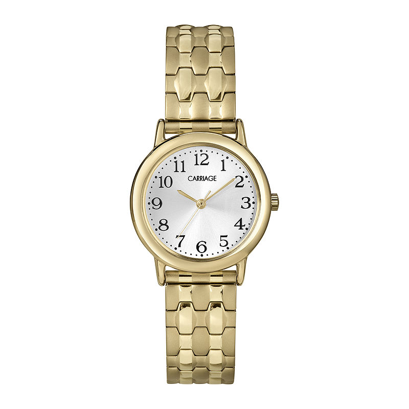 Carriage by Timex Womens Gold-Tone Stainless Steel Expansion Bracelet Watch C3C7459J