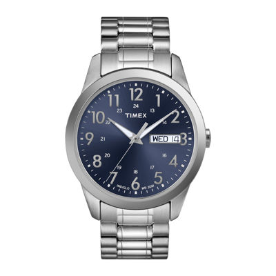 Timex® Elevated Classic Mens Stainless Steel Expansion Strap Watch T2M9339J