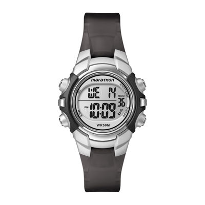 Marathon by Timex® Black Resin Strap Digital Watch T5K805M6