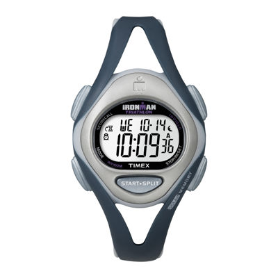 Timex® Ironman Womens Blue Resin Strap 50-Lap Watch T5K4519J