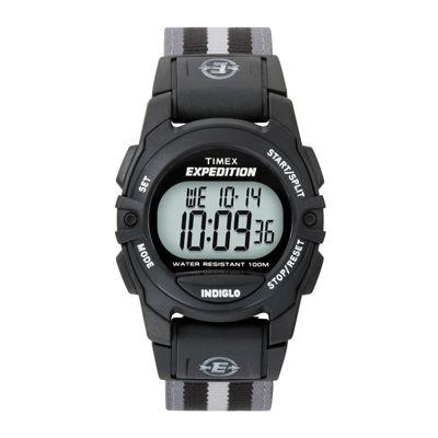 Timex® Expedition® Gray Nylon Strap Digital Watch T496619J