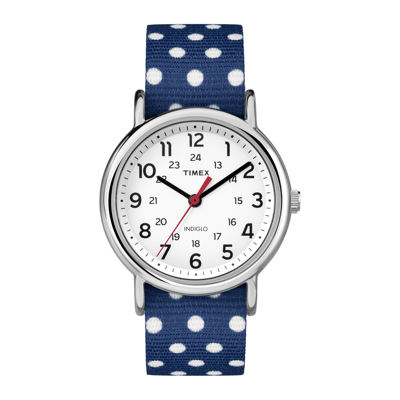Timex® Weekender™ Slip Thru Womens Reversible Nylon Strap Watch TW2P660009J