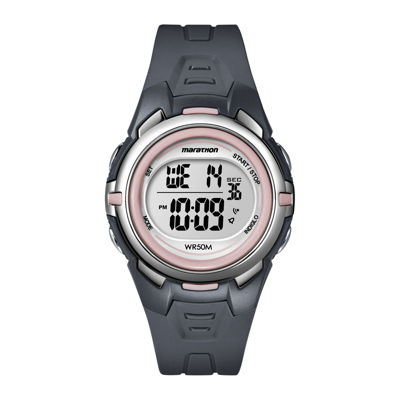 Marathon by Timex® Womens Gray Resin Strap Digital Watch T5K360M6