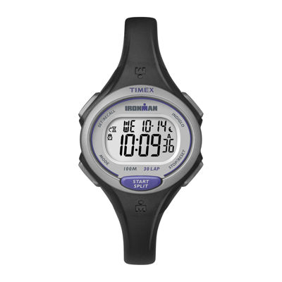 Timex® Ironman Womens Black Resin Strap 30-Lap Watch TW5K900009J