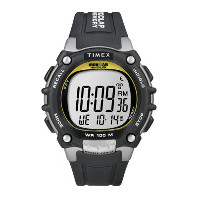 Timex® Ironman Mens Black Resin Strap 100-Lap Watch T5E2319J