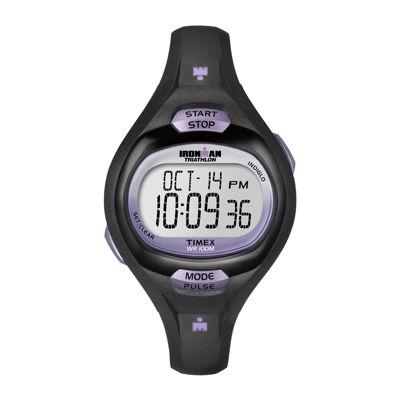 Timex® Ironman Womens Black Resin Strap Watch T5K1879J