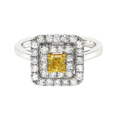 LIMITED QUANTITIES 1 CT. T.W. White and Color-Enhanced Yellow Diamond Ring