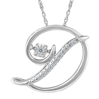"""Love in Motion™ Diamond-Accent  Sterling Silver """"D"""" Pendant Necklace"""