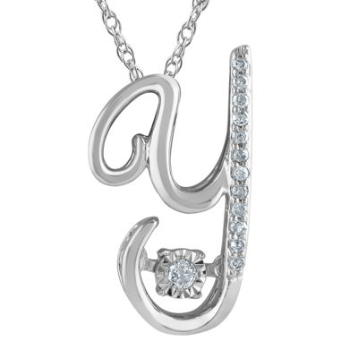 "Love in Motion™ Diamond-Accent Sterling Silver ""Y"" Pendant Necklace"