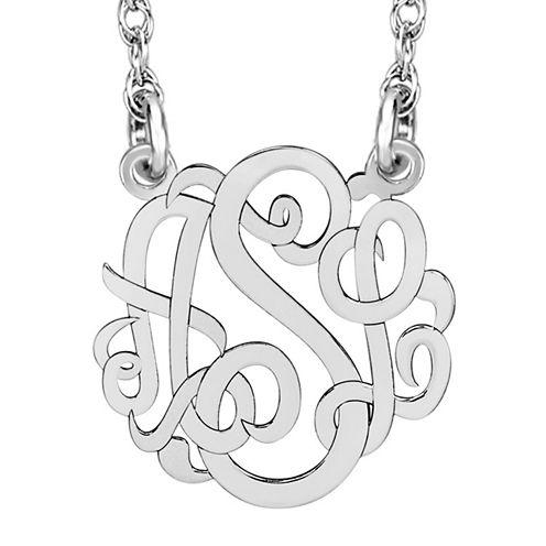 Personalized 10mm Script Monogram Necklace