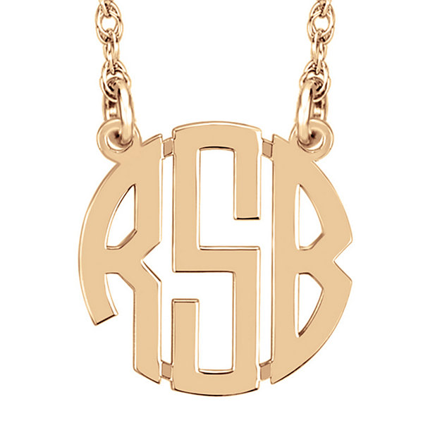 Personalized 10mm Block Monogram Necklace
