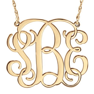 Personalized 30mm Vine Monogram Necklace