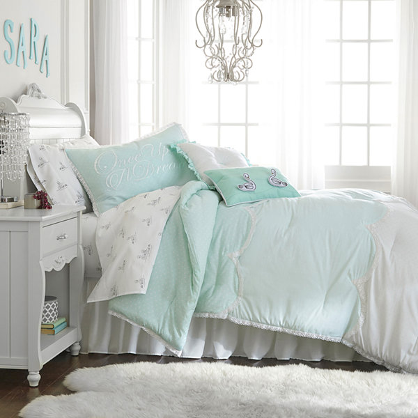 Frank and Lulu Polka Dottie Turquoise Comforter Set