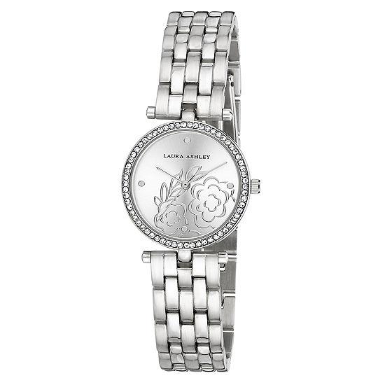 Laura Ashley Womens Silver Tone Bracelet Watch-La31021ss