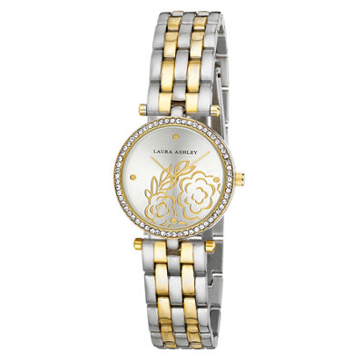 Laura Ashley Womens Two Tone Bracelet Watch-La31021ttg