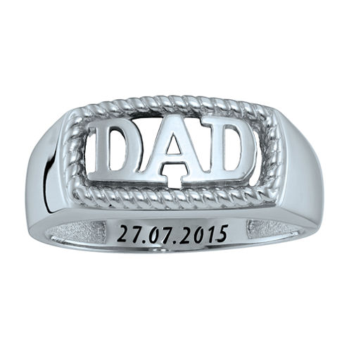 """Personalized Men's """"Dad"""" Ring"""