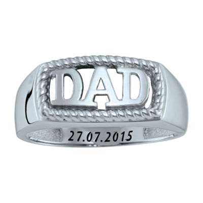"Personalized Men's ""Dad"" Ring"