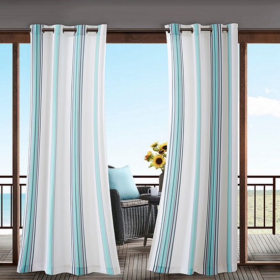 Madison Park Bolinas Grommet Top Outdoor Curtain
