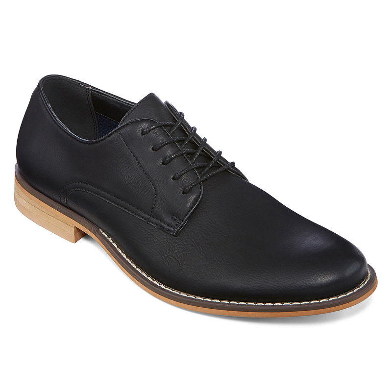 169cbb9645bb2 JF J. Ferrar Swartz Men's Lace-Up Dress Derby Shoes, Black, 8 Medium