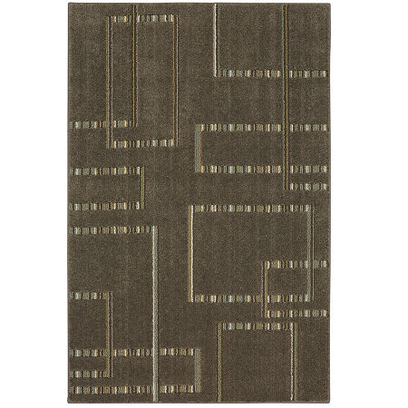 JCPenney Home Segmentation Rectangular Rug, One Size , Gray